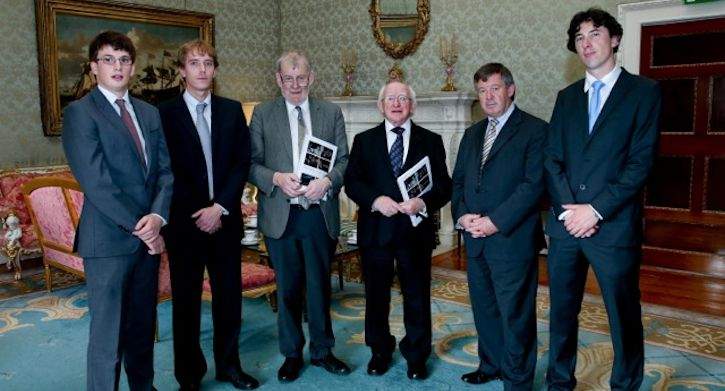 Emigre research team visits Aras an Uachtarain