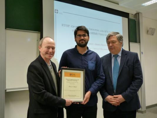 Prize for Best Student Paper awarded to Ahmed Khalid