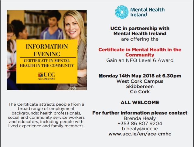 Information Evening Cert Mental Health in the Community