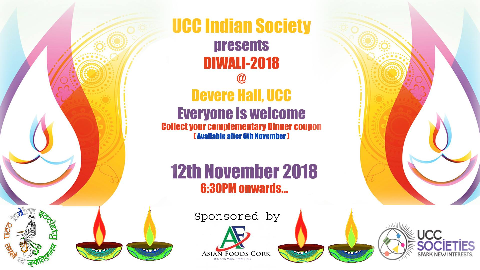 UCC Diwali- 12th November 2018