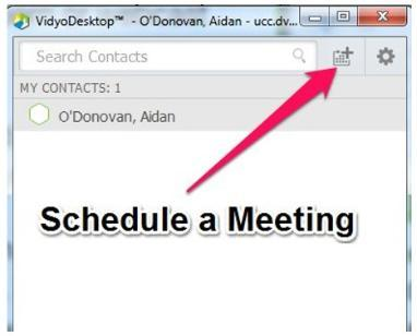 Vidyo schedule a meeting