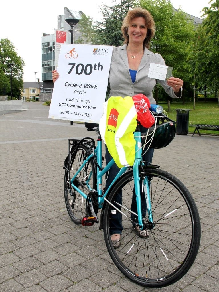 The 700th UCC Cycle-to-Work Bicycle Sold