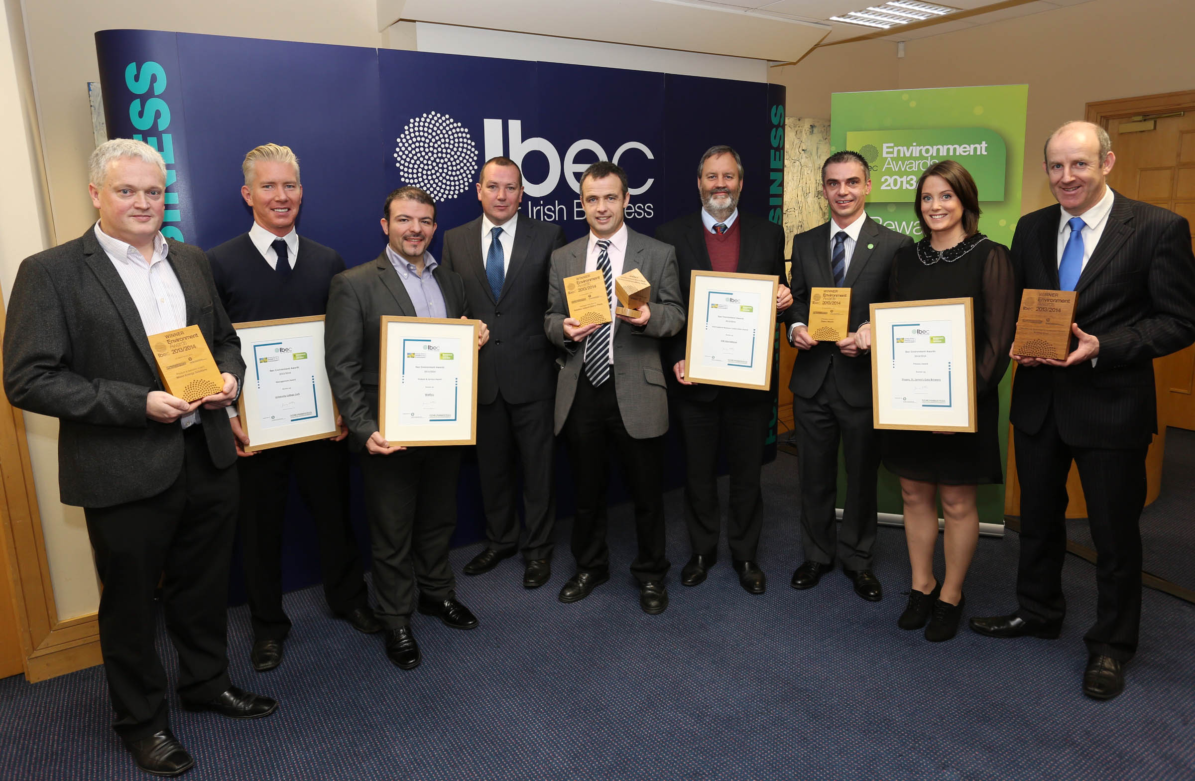 UCC receive IBEC award 2013 (runner up prize)