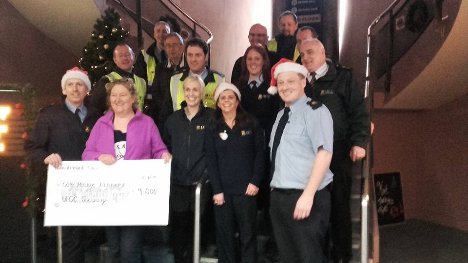 UCC General Services have raised €9259 for wonderful Cork Charity, Penny Dinners