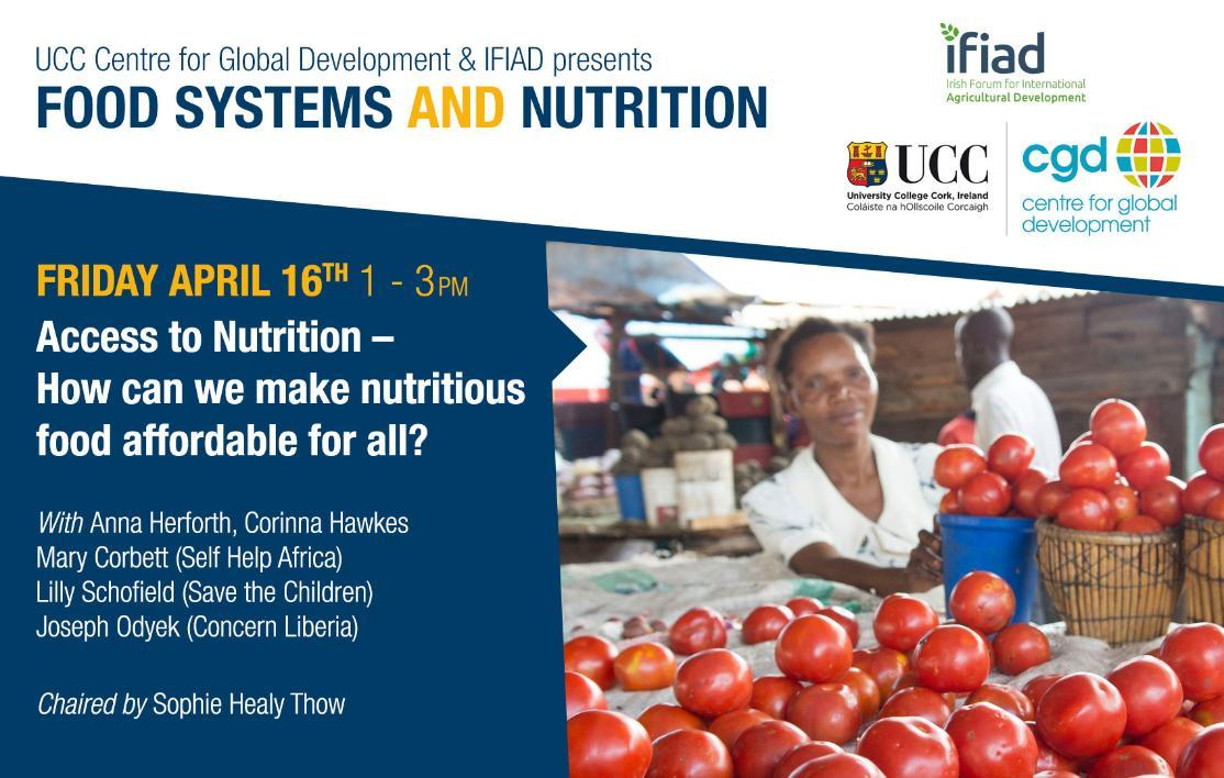 UCC CGD and the Irish Forum for International Agricultural Development (IFIAD) Webinar