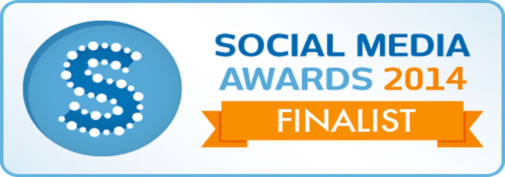Finalist in Social Media Awards 2014