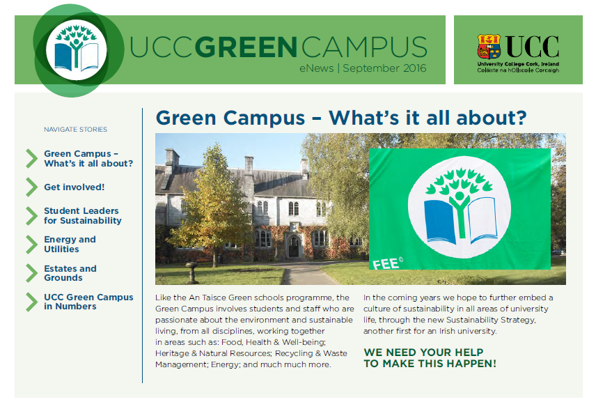 UCC Green Campus Newsletter