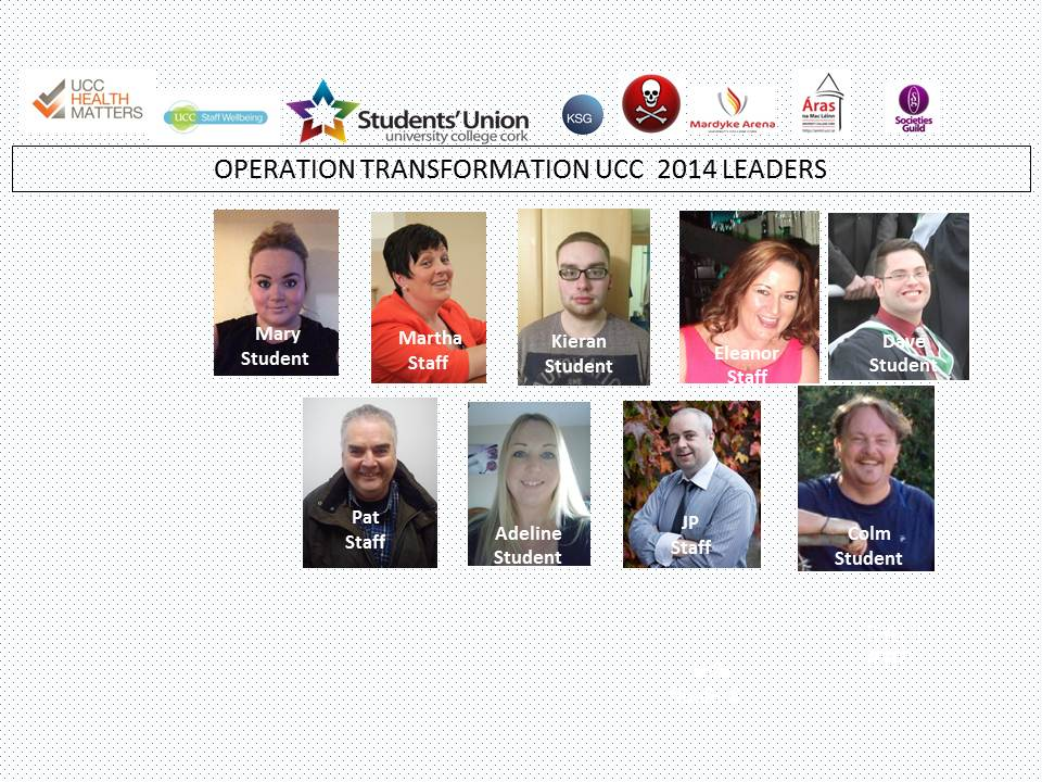 Operation Transformation UCC Leaders 2014