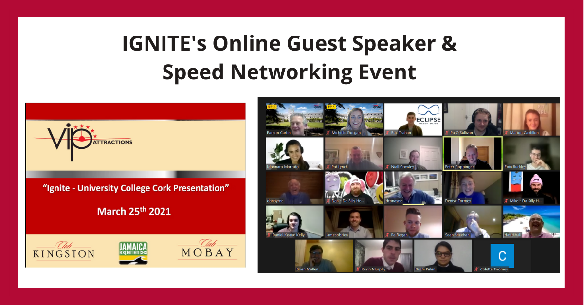 IGNITE Guest Speaker and Speed Networking Event