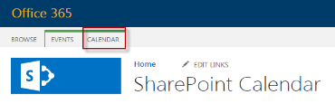 Main page SharePoint Calendars