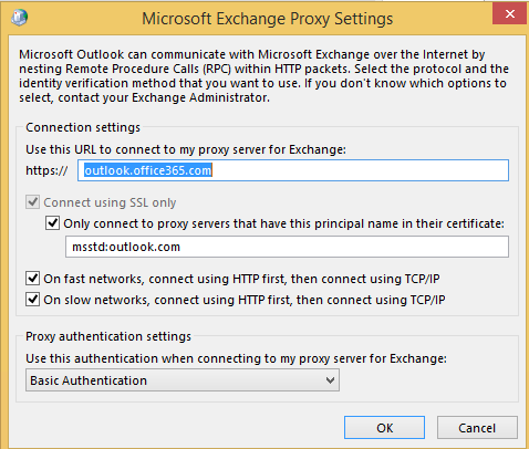 EOL-Configure Outlook with Proxy Server | University College