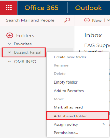 Add shared folder to OWA