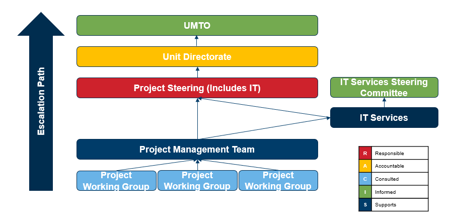 Graphical representation of the governance structures of projects governed by Functional Unit