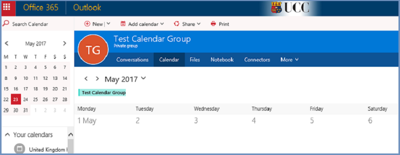 Your calendar is now ready to use