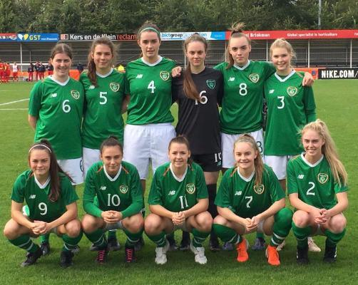 Aoife Slattery plays for ROI in the Women's U19 UEFA Qualifiers