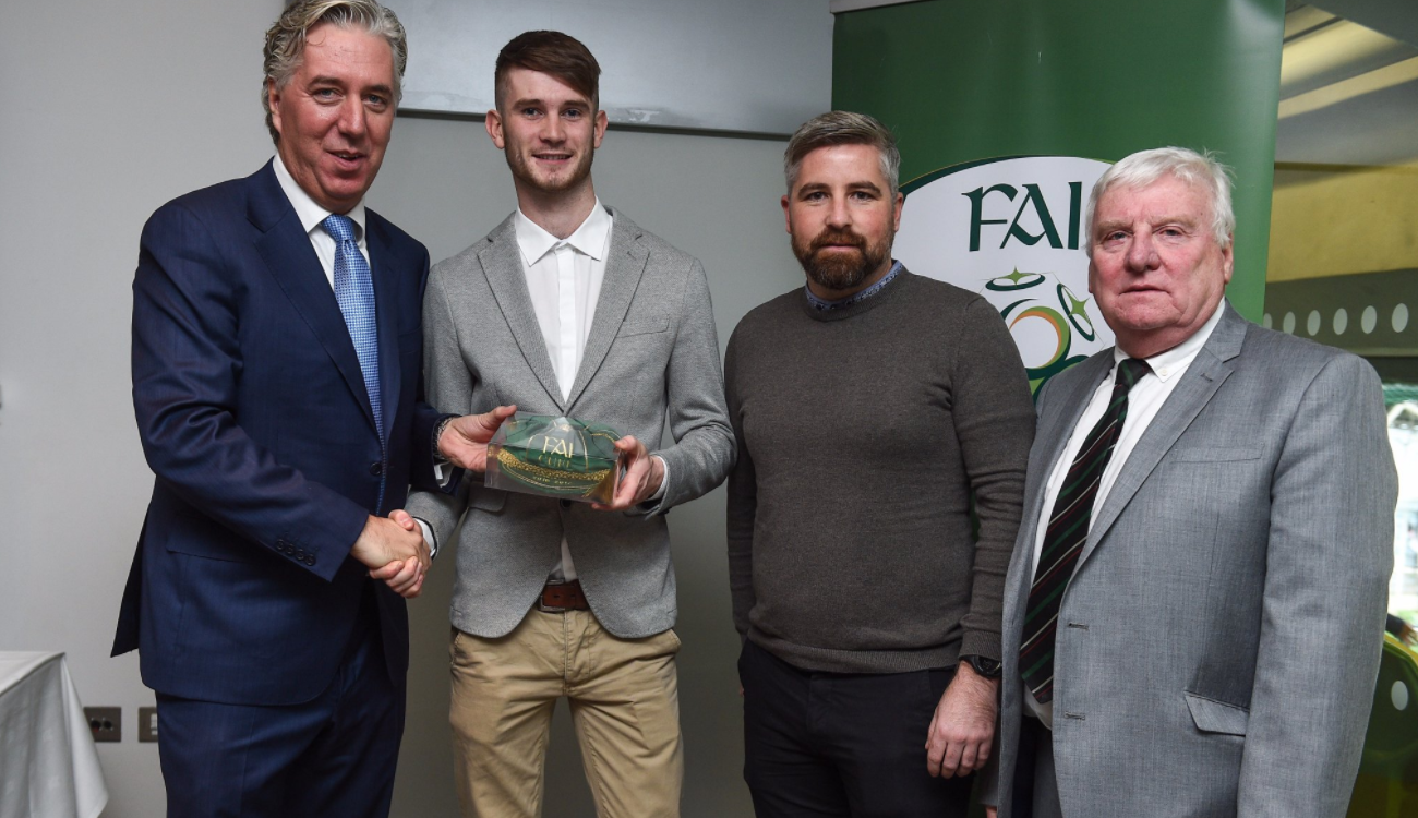 Cathal O'Hanlon received International Cap
