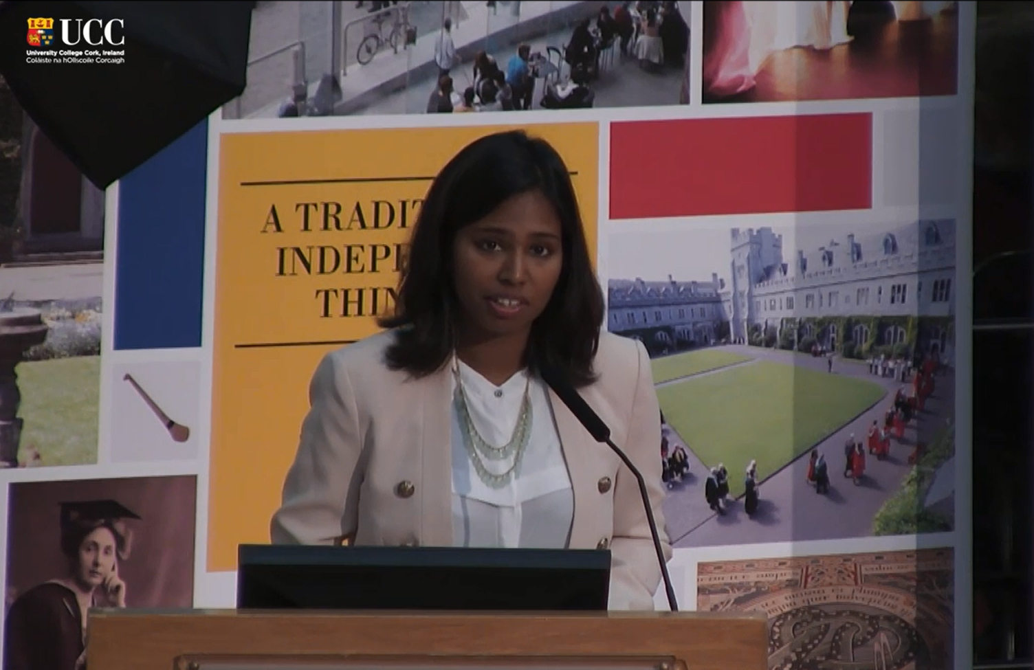 Sarah Jameel addresses the 2015 Quercus Entrance Scholars