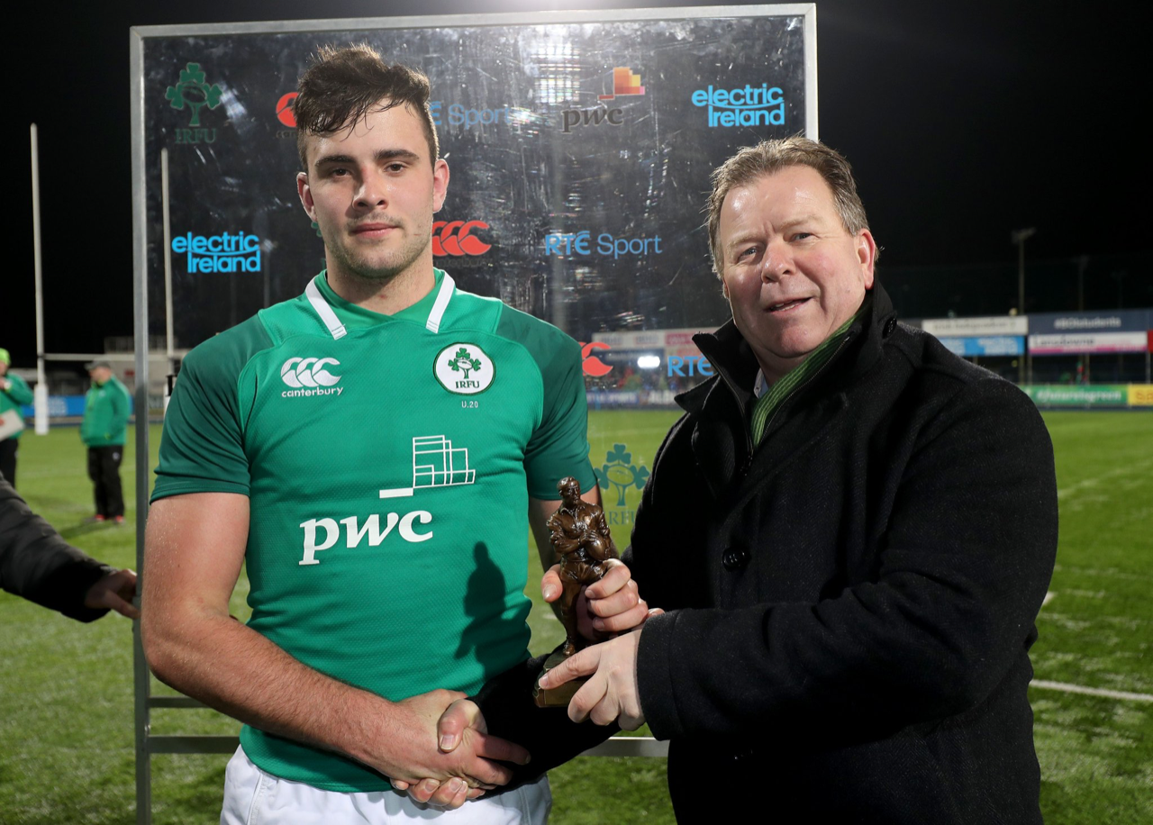 Jack O'Sullivan Ireland U20 Six Nations Man of the Match