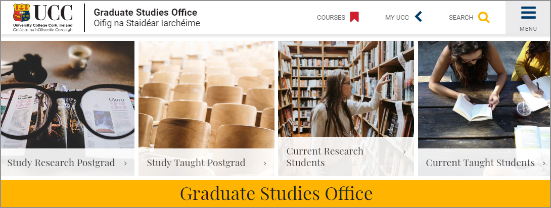 UCC's Graduate Studies Office launches new website