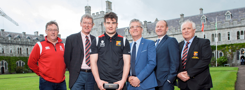 Presentation to Ireland U20 Grand Slam star & UCC Quercus Scholar, John Hodnett in advance of his departure to Argentina for the World Rugby U20 Championship.