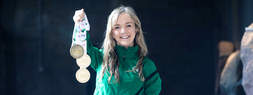 Mary Fitzgerald wins three gold medals