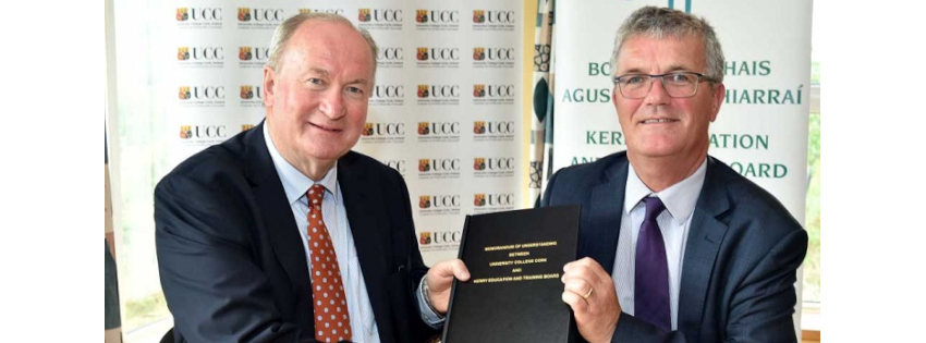 University College Cork signs Memorandum of Understanding with Kerry Education and Training Board