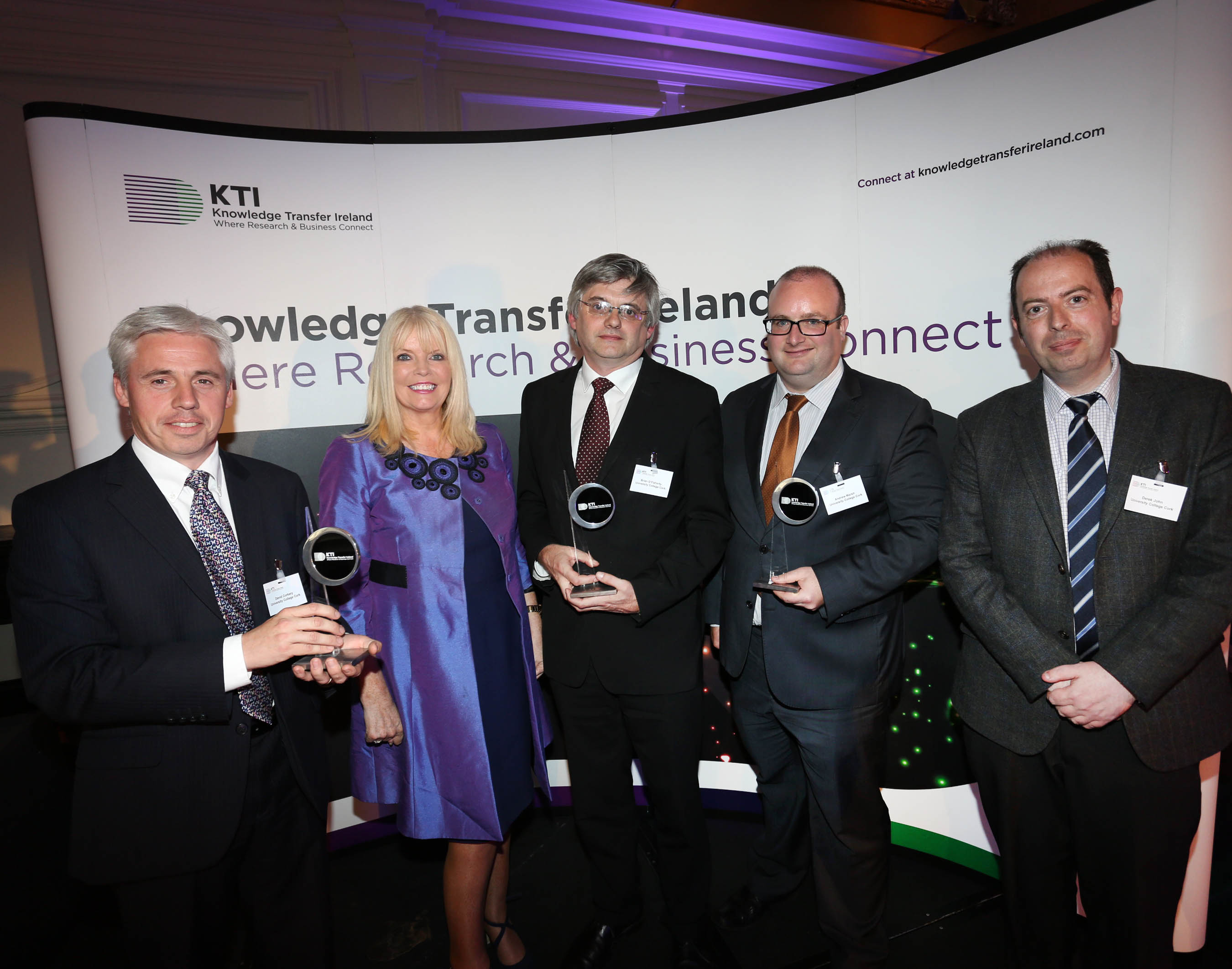 UCC Technology Transfer Office wins at national Knowledge Transfer awards ceremony