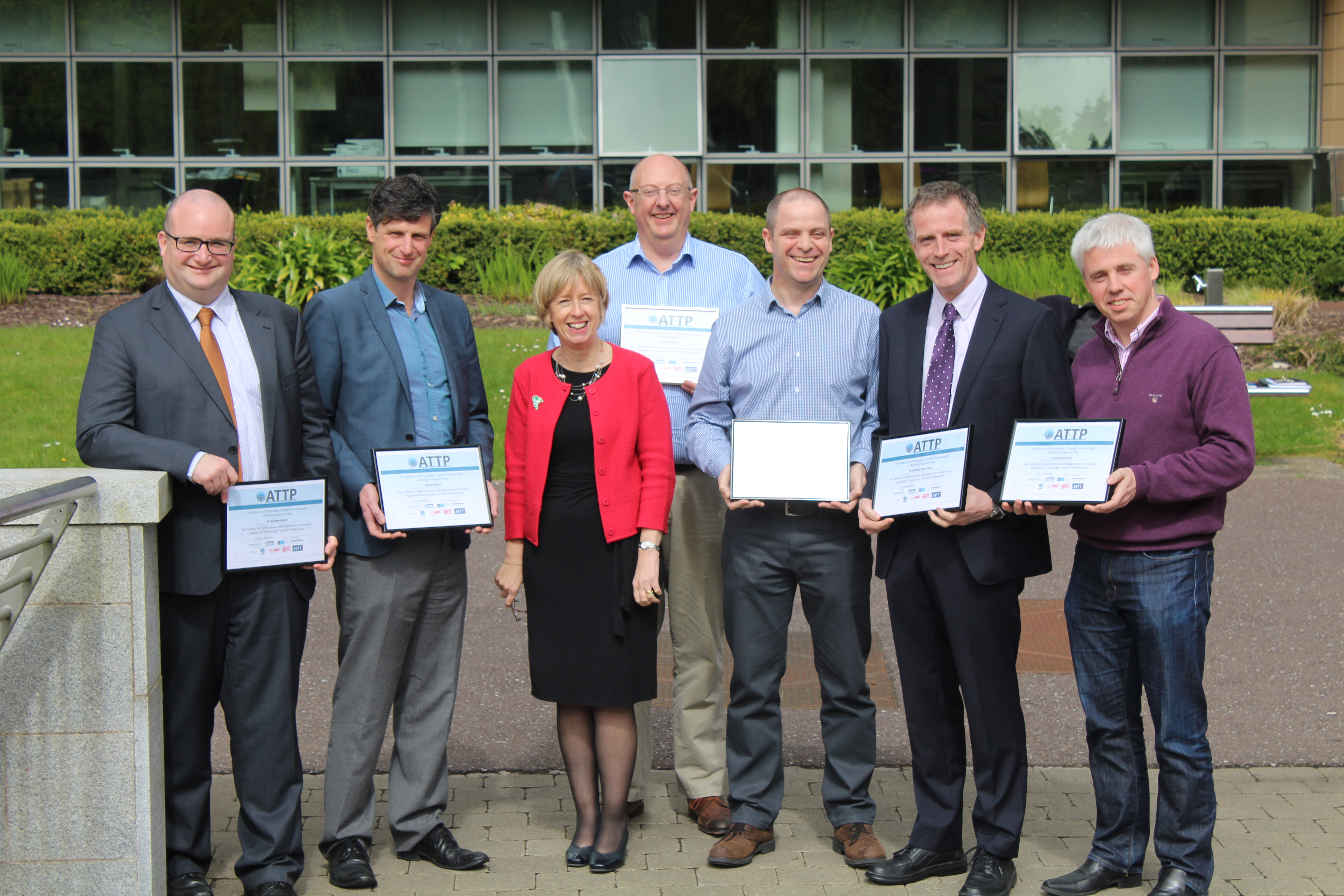 UCC congratulated by KTI Director, Dr Alison Campbell, for achieving international accreditation
