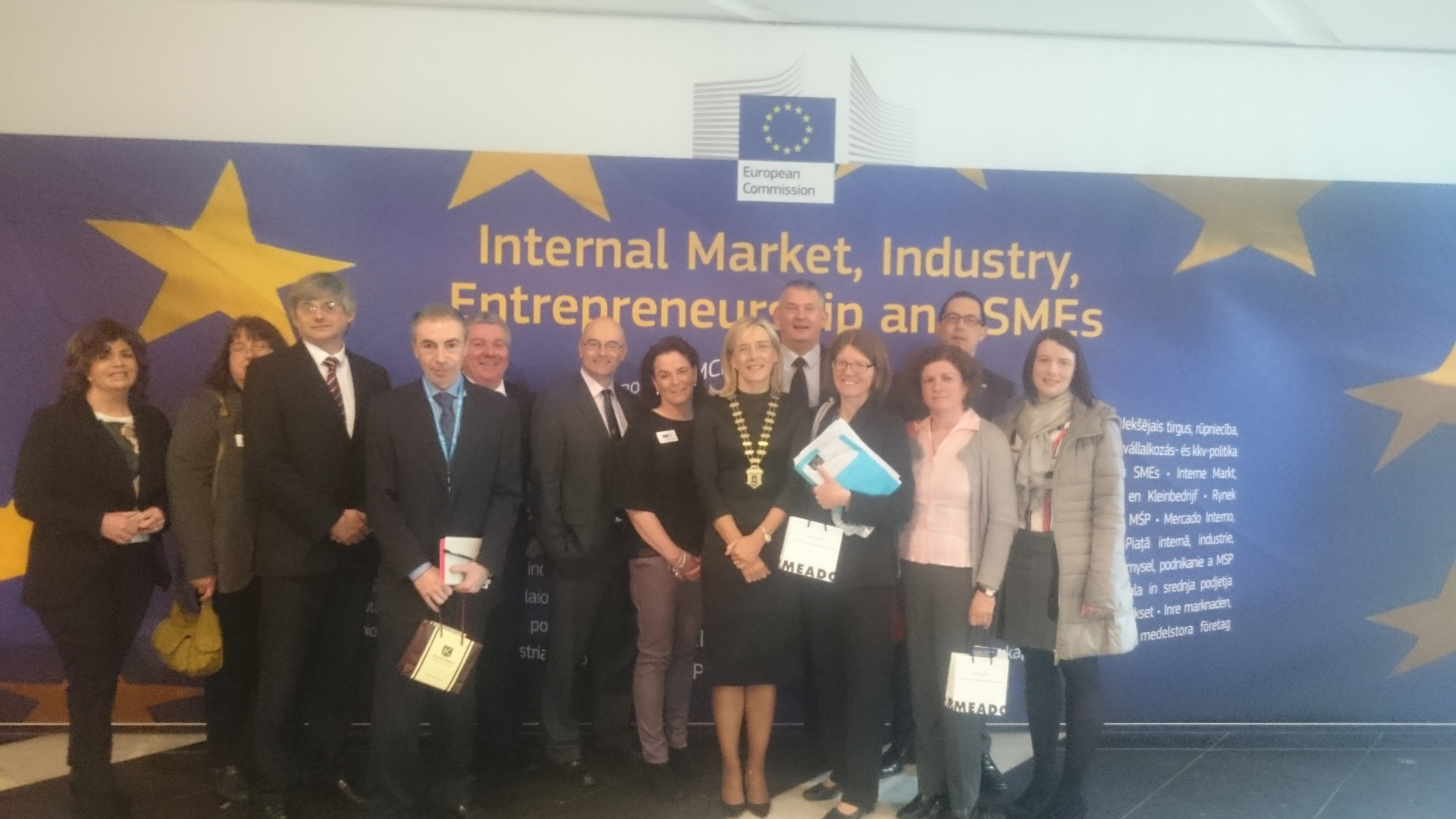 Cork Chamber of Commerce's delegation to Brussels on Innovation and Entrepreneurship Policy