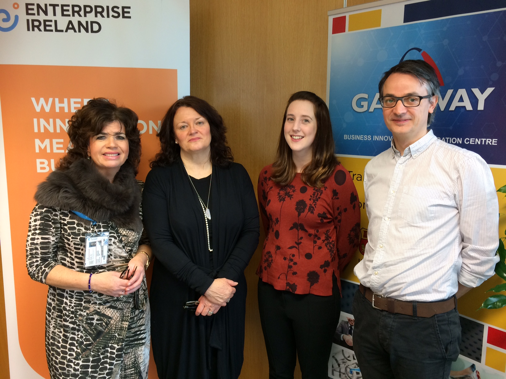 Myriam Cronin, GatewayUCC, Jacqui Norton, Enterprise Ireland along with AnnMarie Looney and John O Toole from the INFANT research centre.