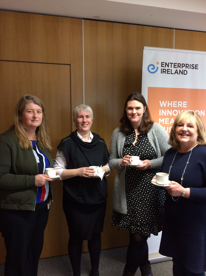 Karen McCarthy, BIS; Ann Moore and Carol Blackshield, School of Pharmacy; and Eileen O Callaghan, BARDS Ltd, School of Chemistry.