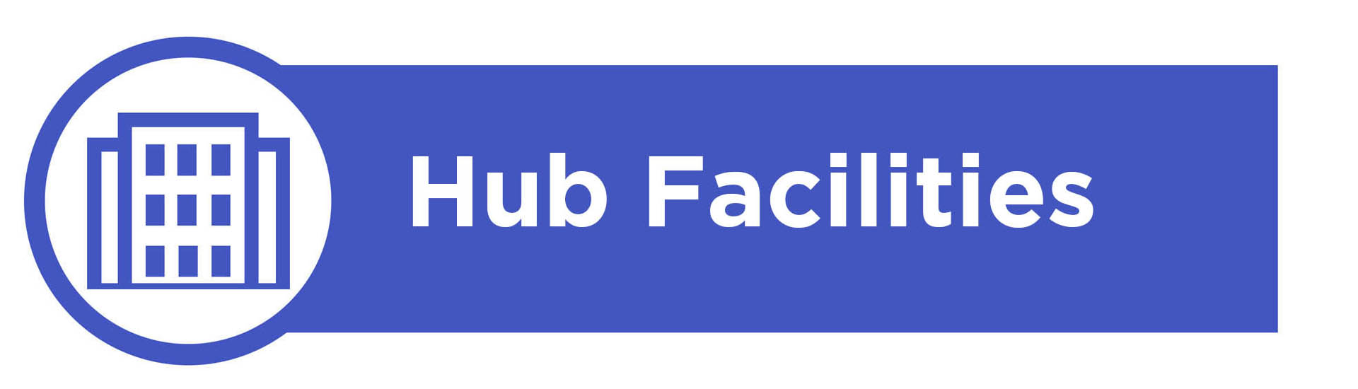 Banner image containing the text 'Hub Facilities'