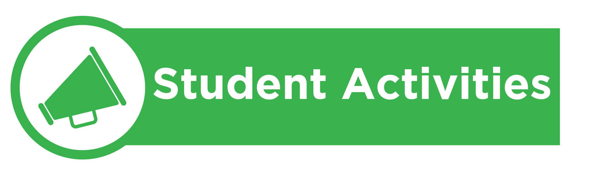 Banner image containing the text 'Student Activities'