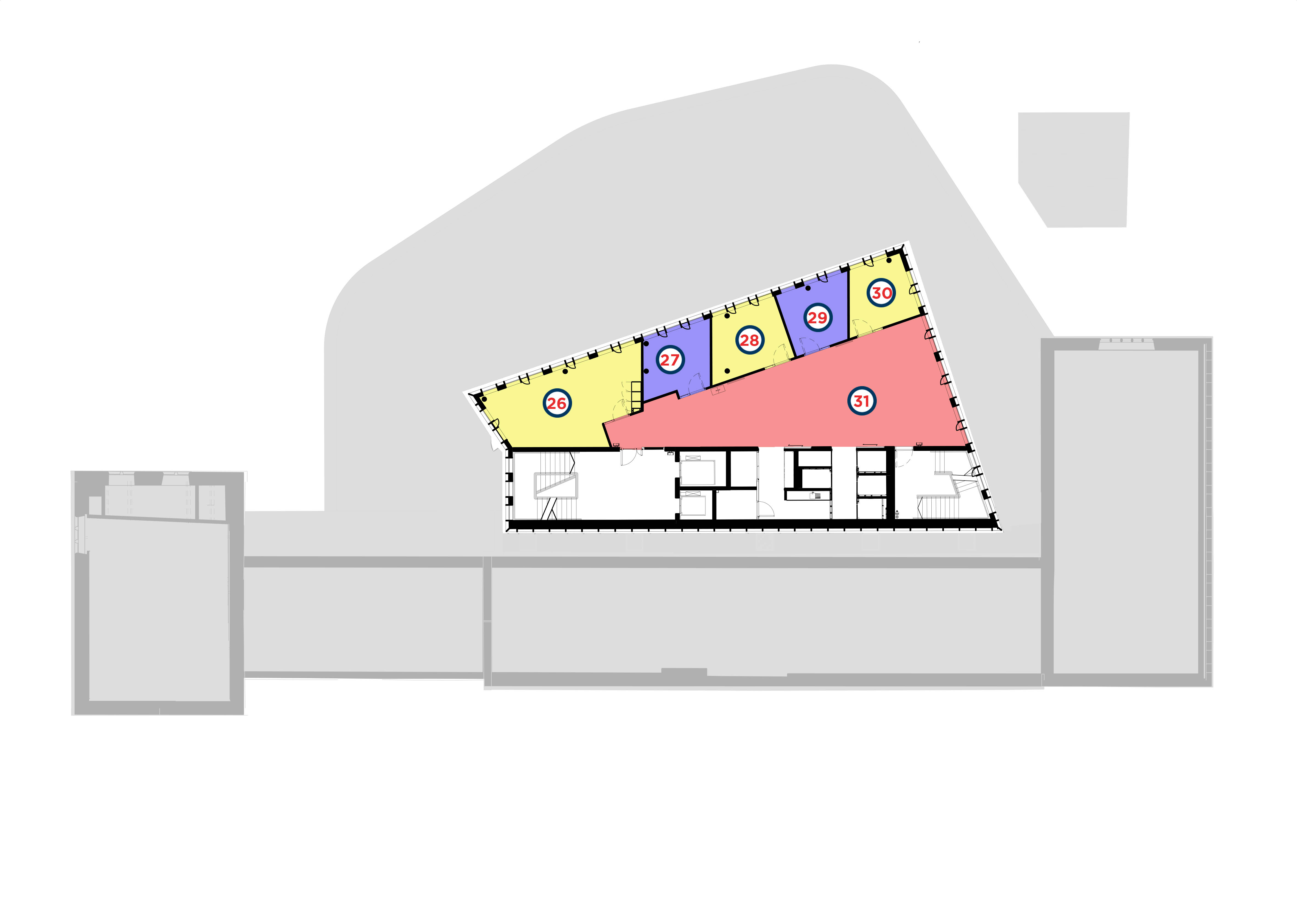 Layout floor plan for the Third Floor of the Hub