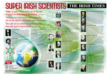 Poster to create awareness of Famous Irish Scientists