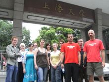 UCC BA students study in China